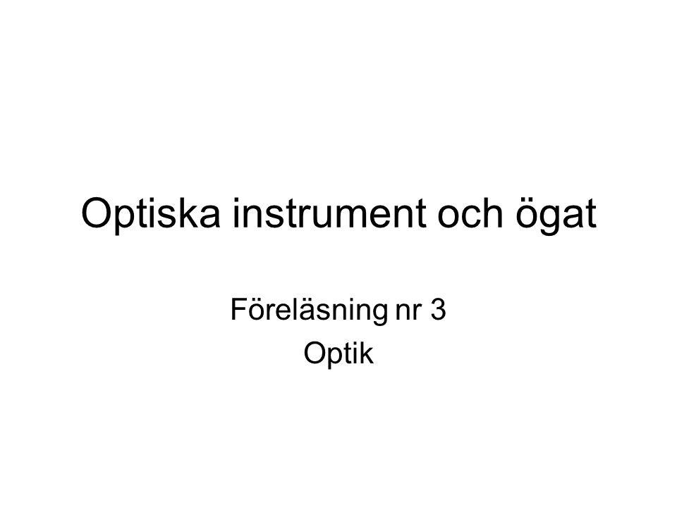 Optiska instrument och ögat