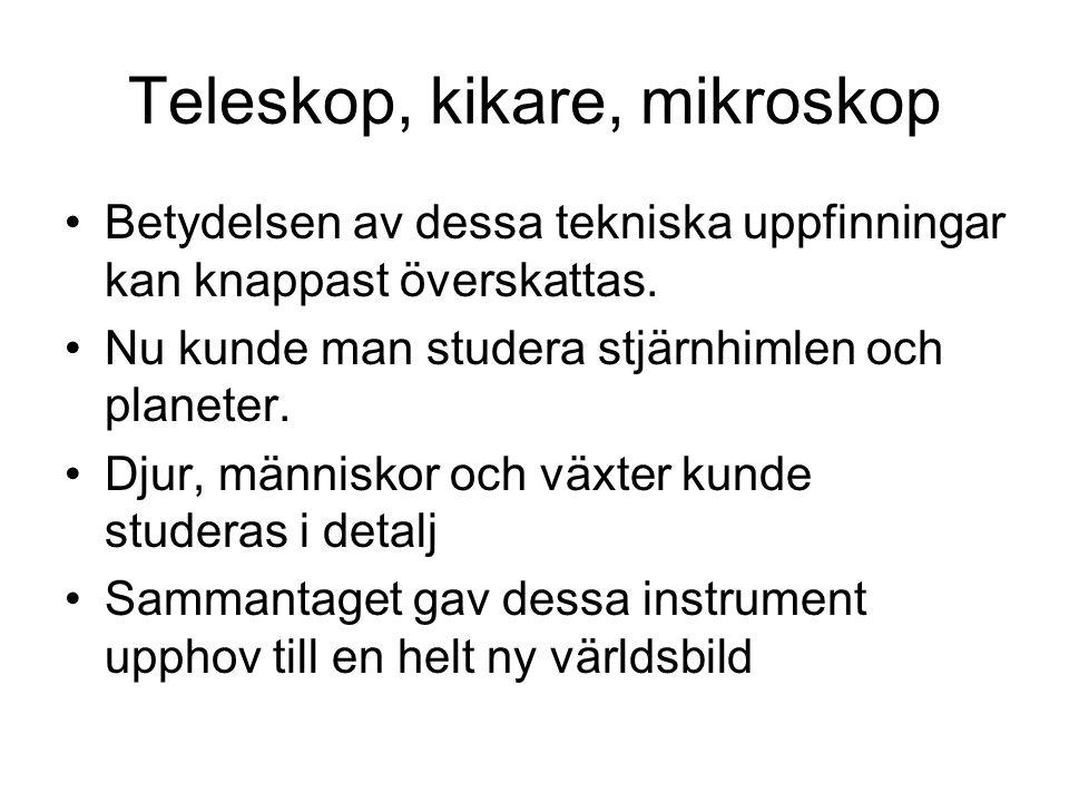 Teleskop, kikare, mikroskop