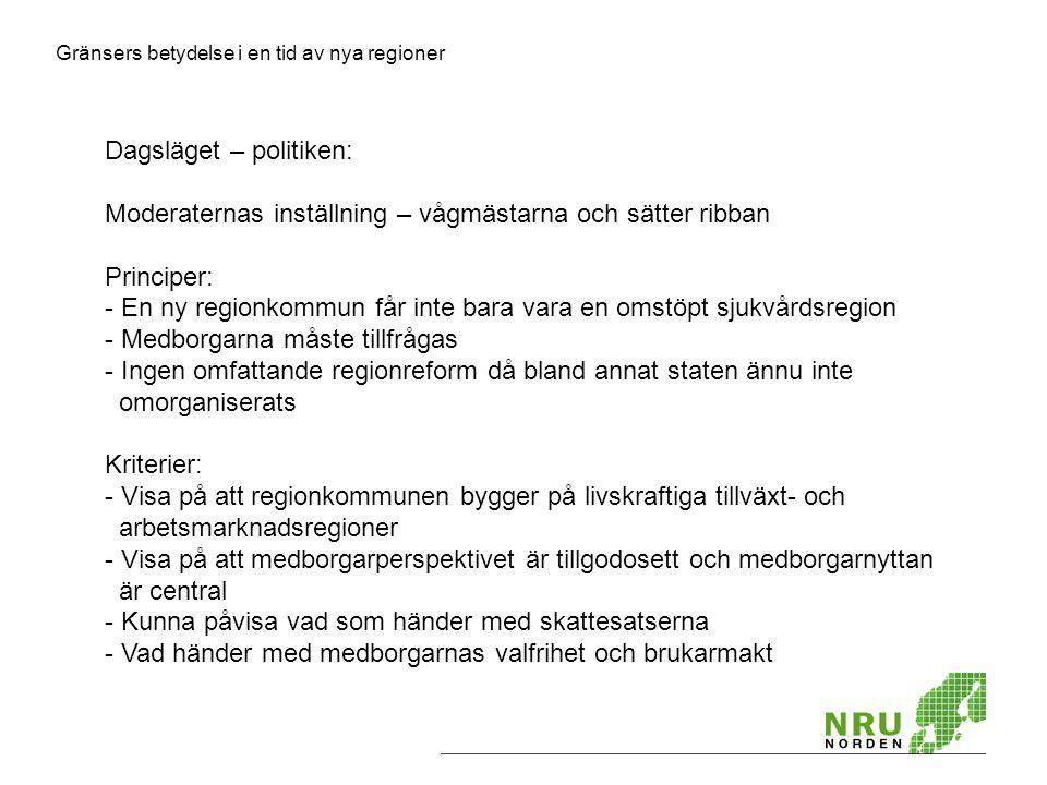 Dagsläget – politiken: