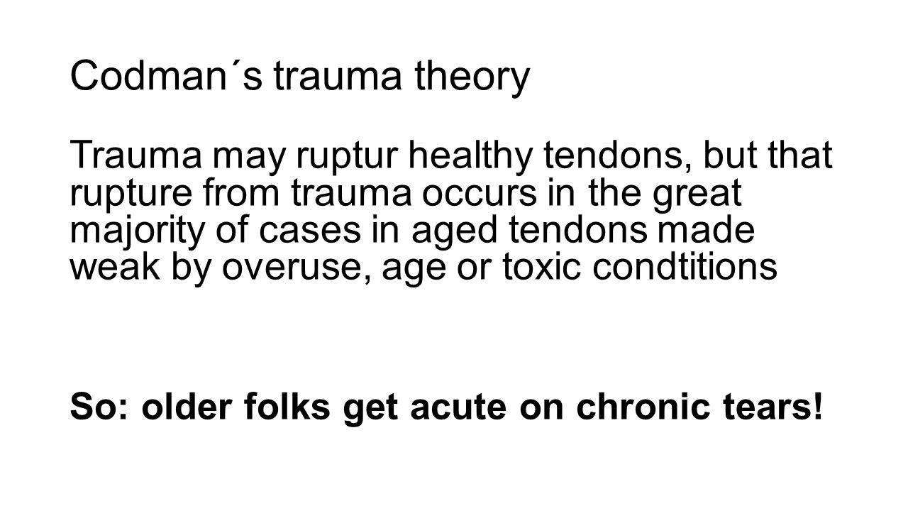 Codman´s trauma theory