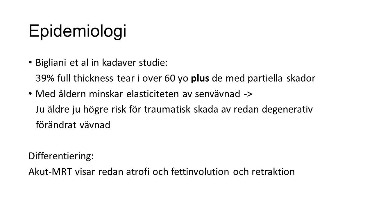 Epidemiologi Bigliani et al in kadaver studie: