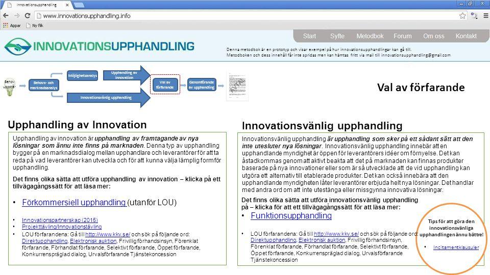 Tips för att göra den innovationsvänliga upphandlingen ännu bättre!