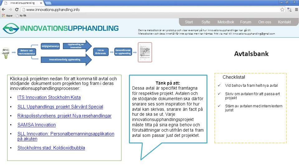 Avtalsbank Checklista!