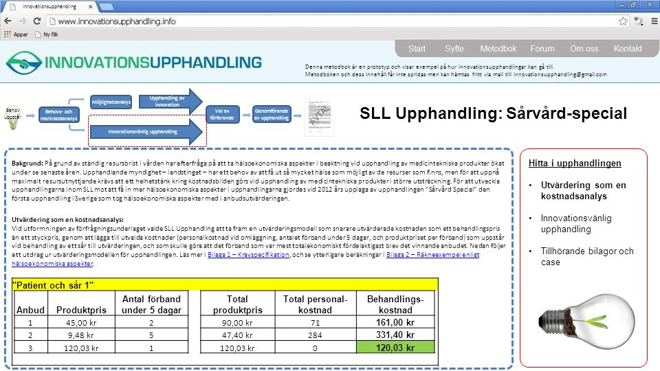 SLL Upphandling: Sårvård-special