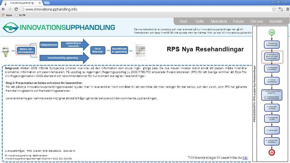 RPS Nya Resehandlingar
