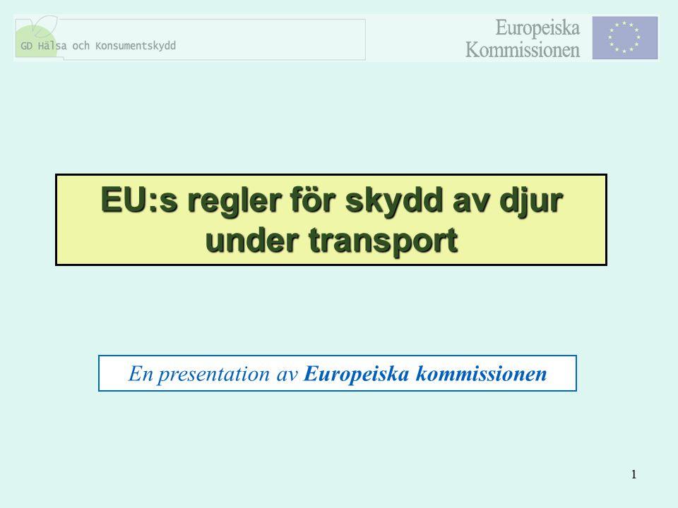 EU:s regler för skydd av djur under transport