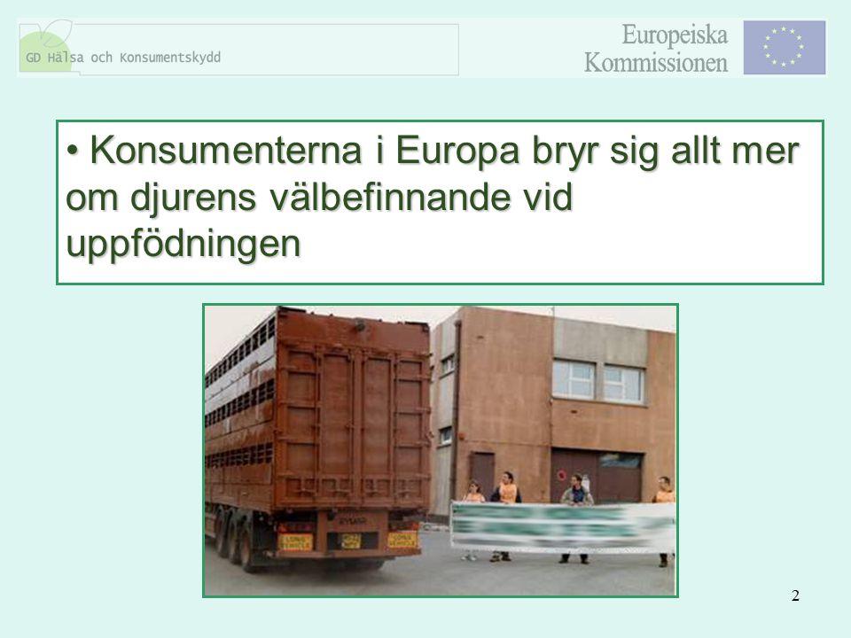 Konsumenterna i Europa bryr sig allt mer om djurens välbefinnande vid uppfödningen