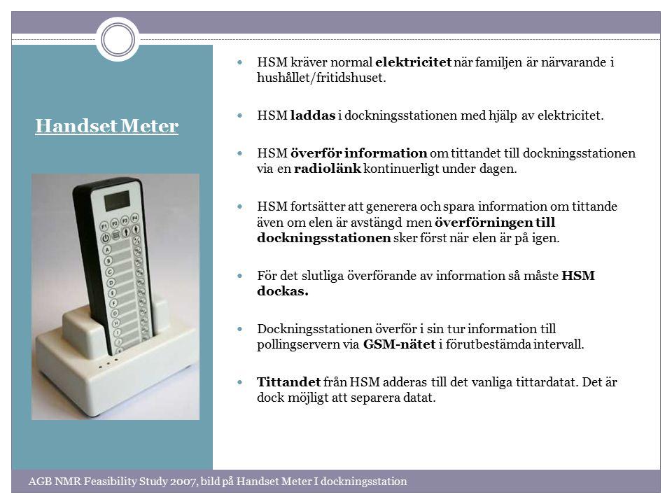 HSM kräver normal elektricitet när familjen är närvarande i hushållet/fritidshuset.