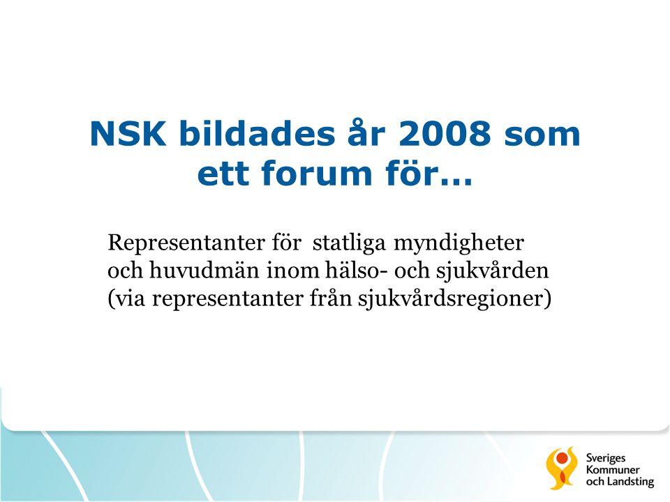 NSK bildades år 2008 som ett forum för…