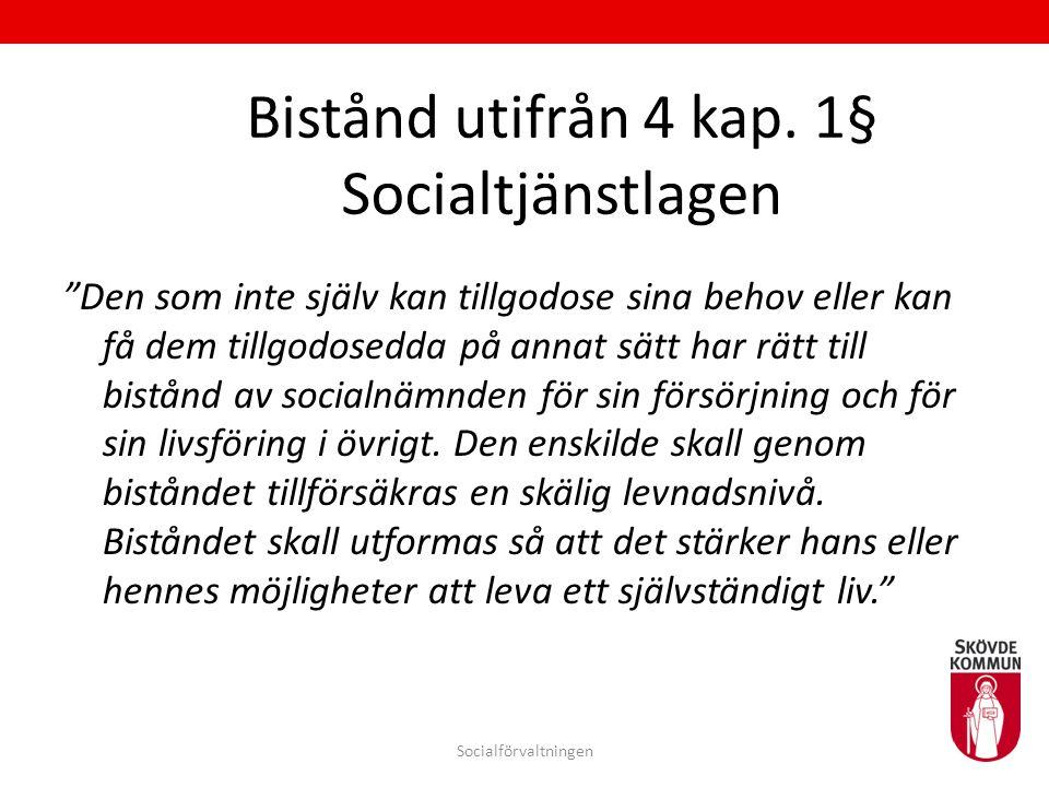 Bistånd utifrån 4 kap. 1§ Socialtjänstlagen