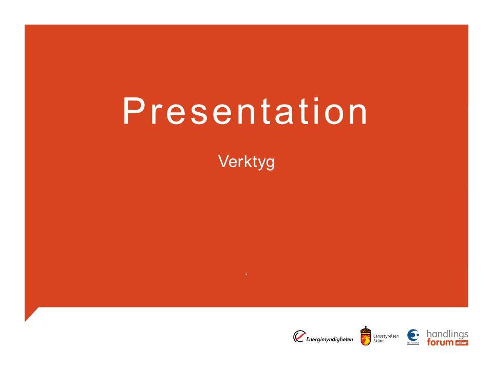 Presentation Verktyg .