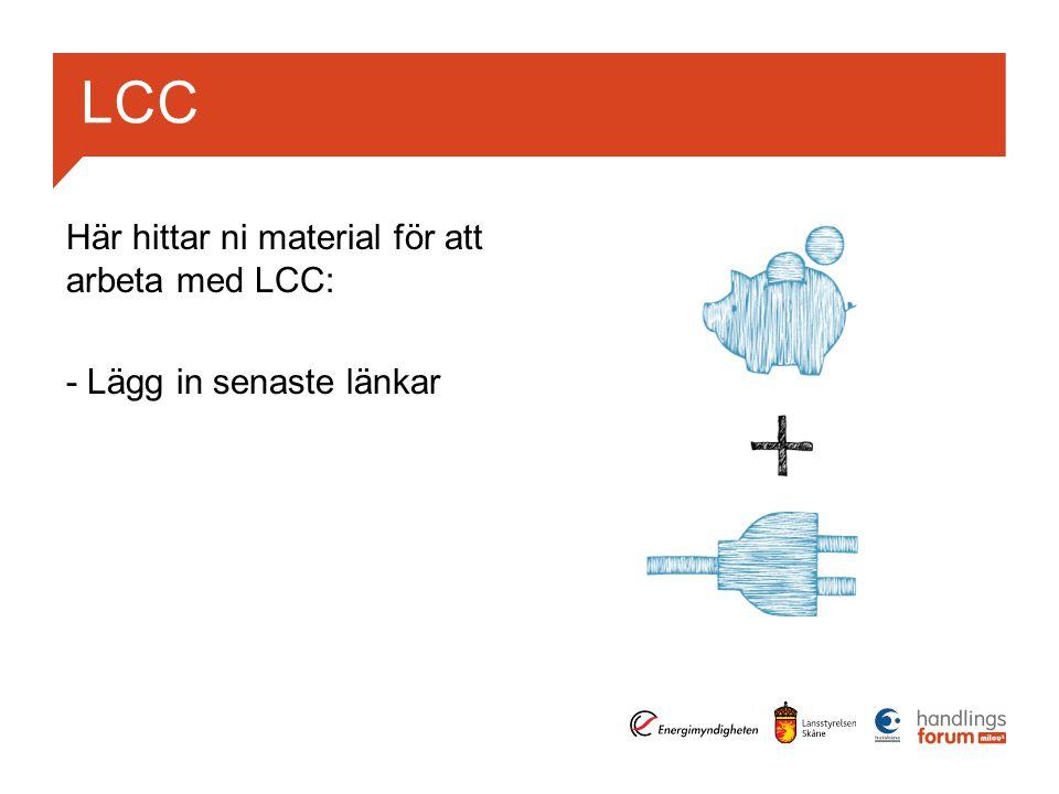 LCC Här hittar ni material för att arbeta med LCC: