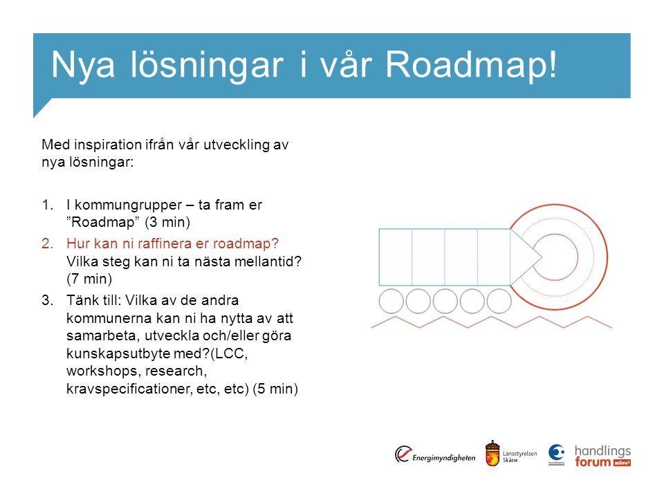 Nya lösningar i vår Roadmap!
