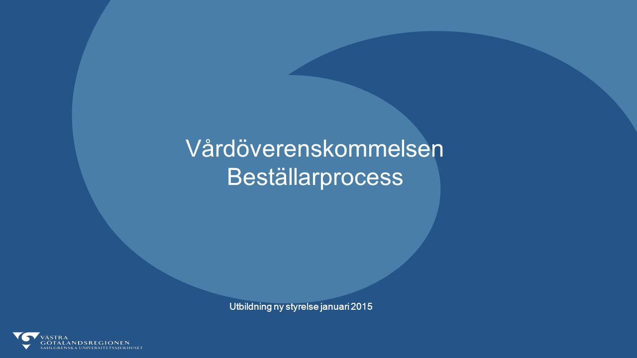 Vårdöverenskommelsen Beställarprocess