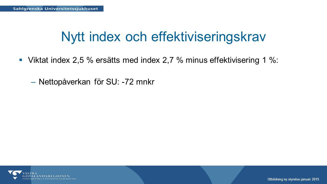 Nytt index och effektiviseringskrav
