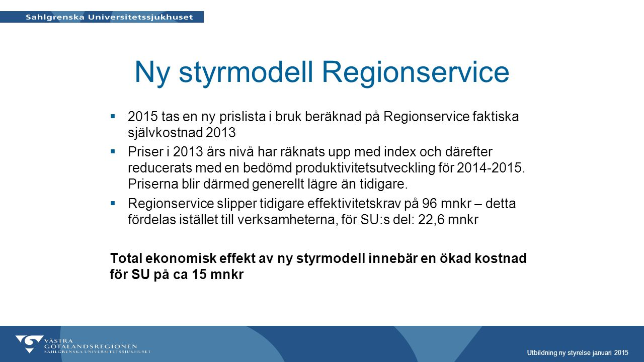 Ny styrmodell Regionservice