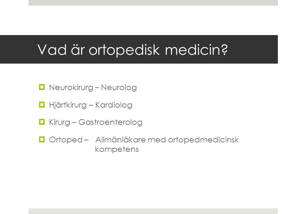 Vad är ortopedisk medicin