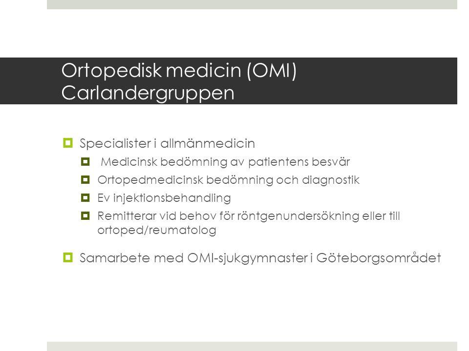Ortopedisk medicin (OMI) Carlandergruppen
