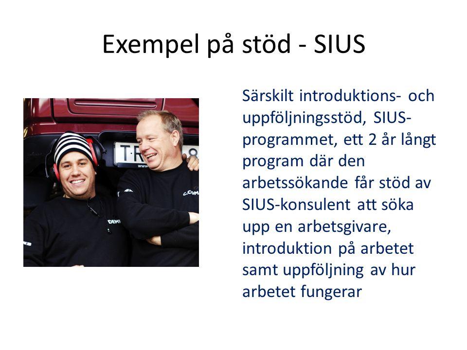 Exempel på stöd - SIUS