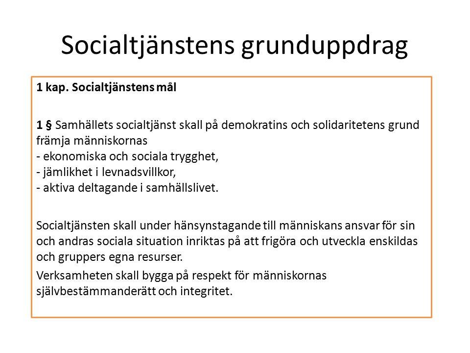 Socialtjänstens grunduppdrag