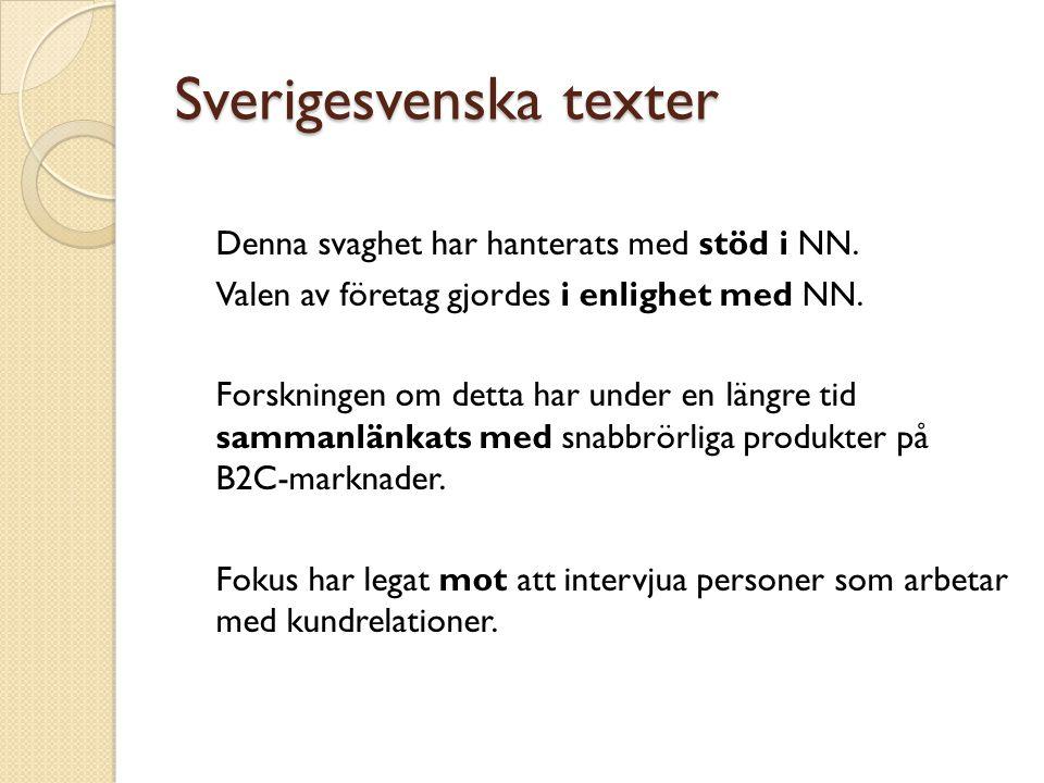 Sverigesvenska texter