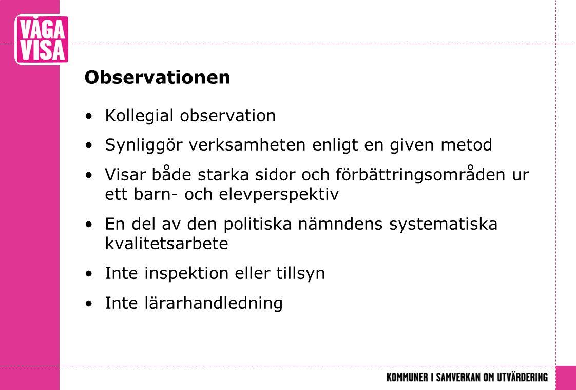 Observationen Kollegial observation