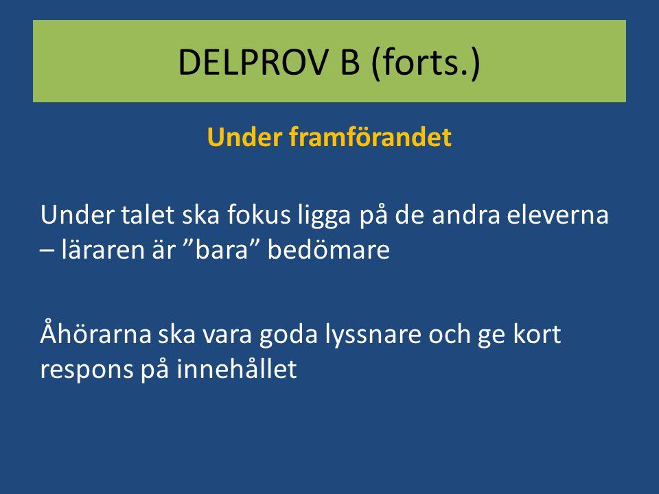 DELPROV B (forts.)