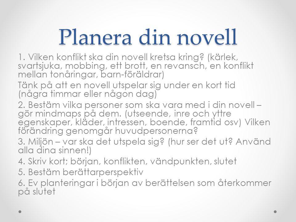 Planera din novell