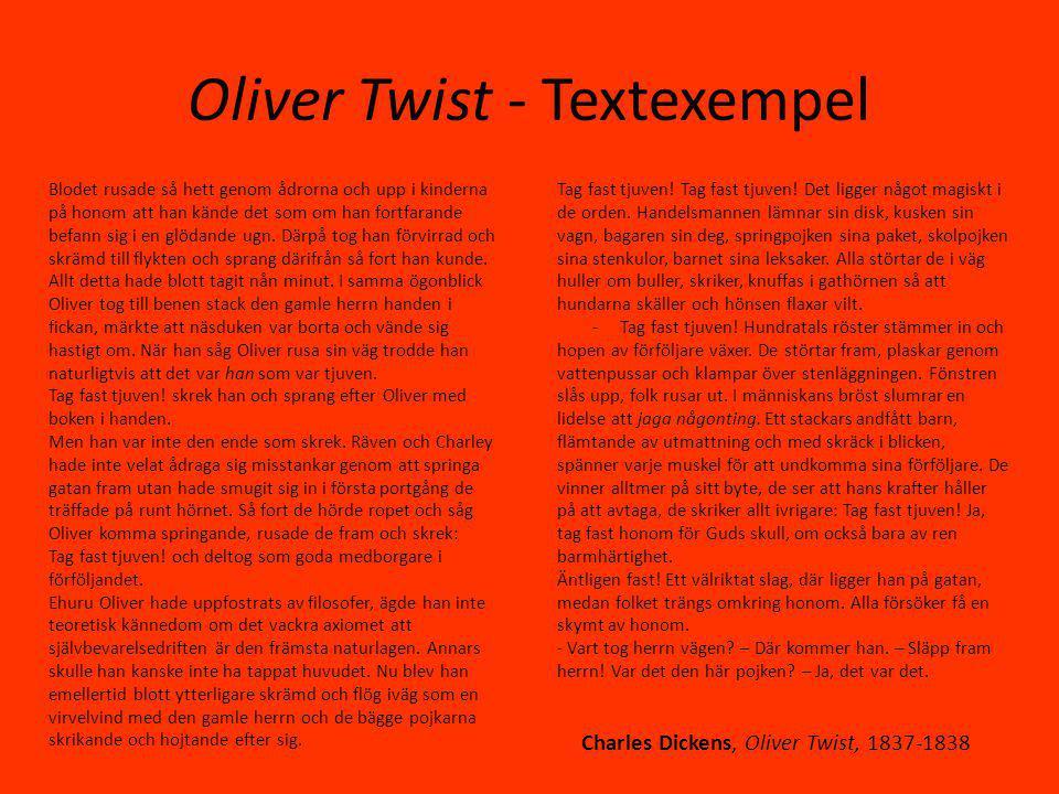 Oliver Twist - Textexempel