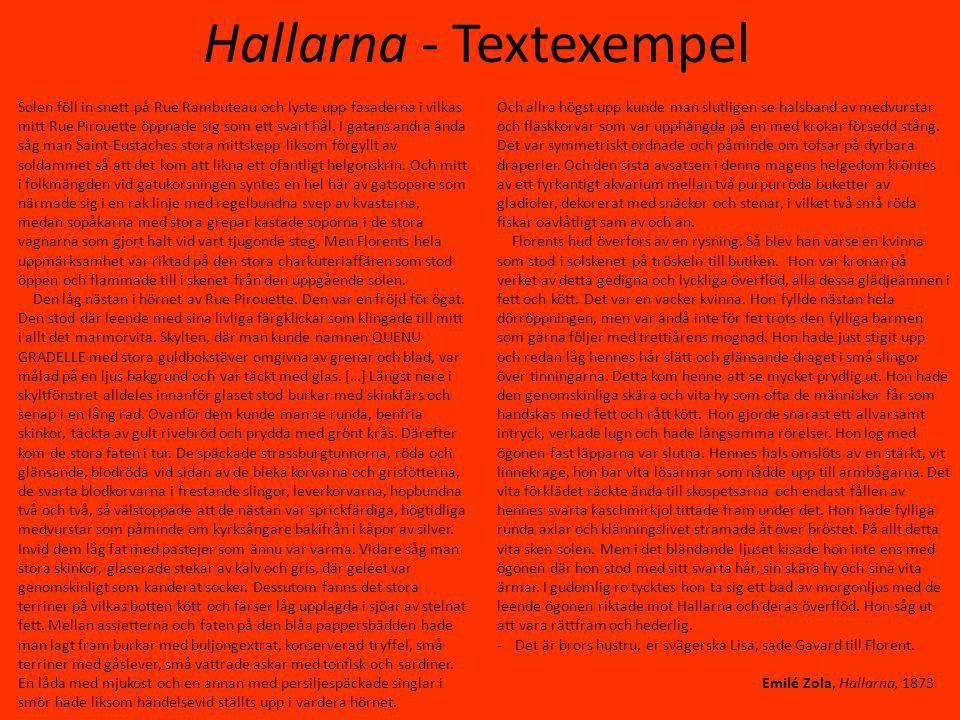 Hallarna - Textexempel
