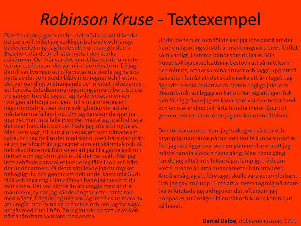 Robinson Kruse - Textexempel