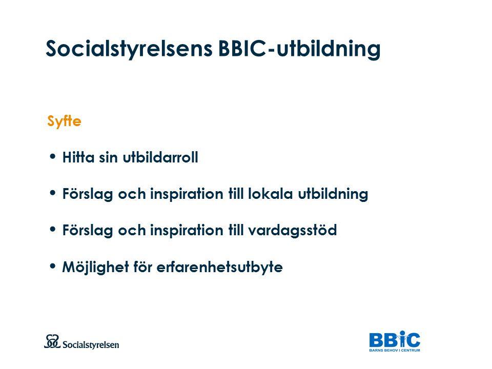 Socialstyrelsens BBIC-utbildning
