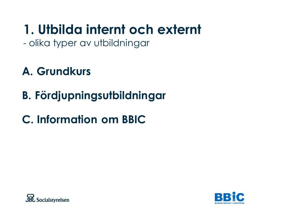 1. Utbilda internt och externt - olika typer av utbildningar