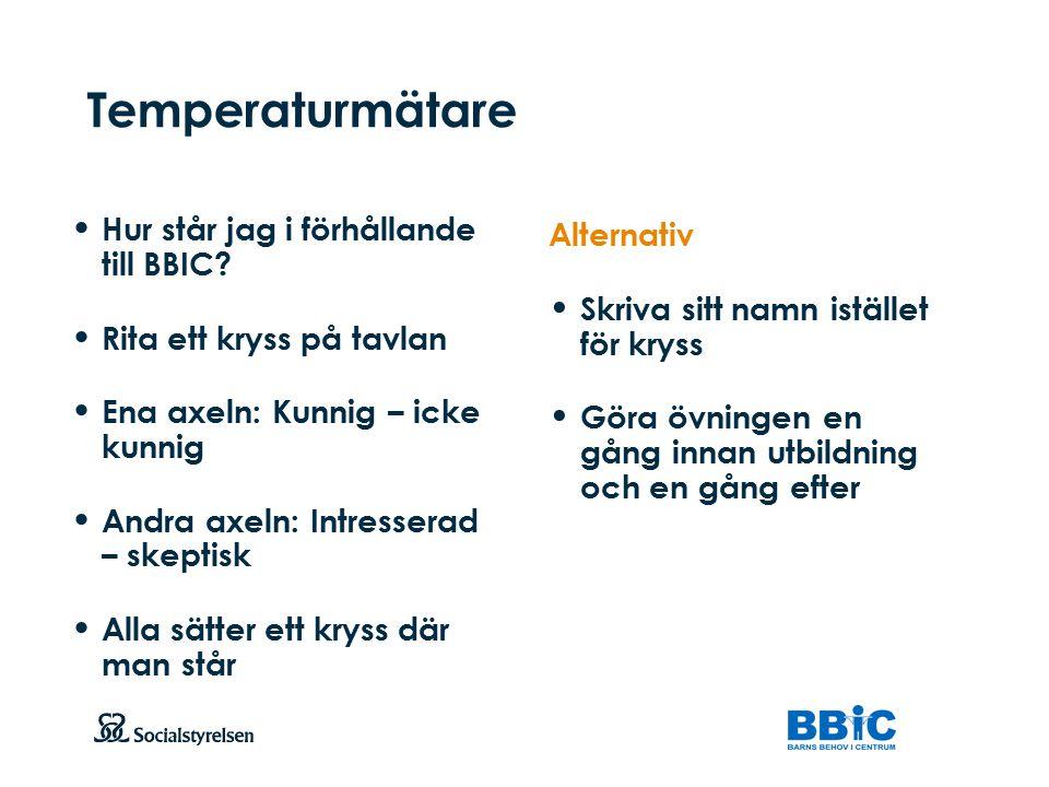 Temperaturmätare Hur står jag i förhållande till BBIC Alternativ