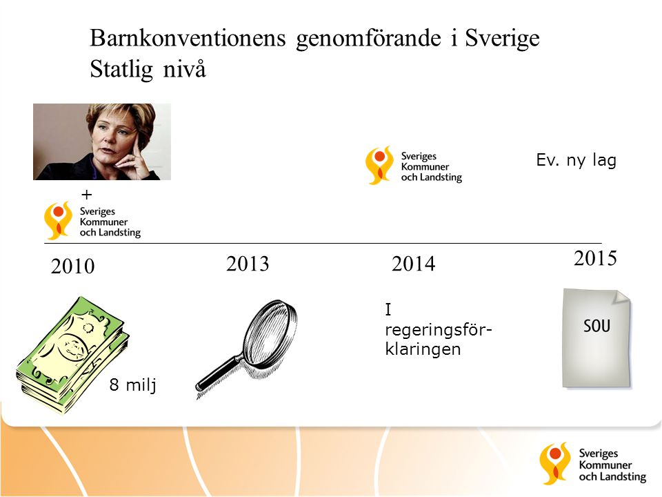 Barnkonventionens genomförande i Sverige Statlig nivå