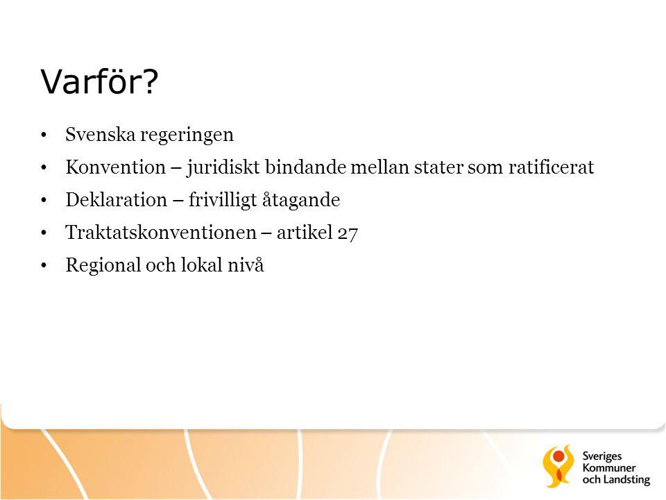 Varför Svenska regeringen