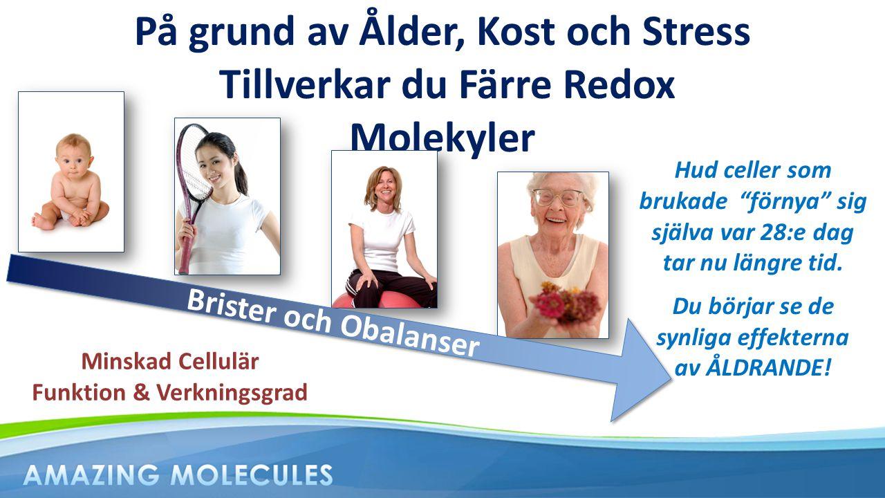 På grund av Ålder, Kost och Stress Tillverkar du Färre Redox Molekyler