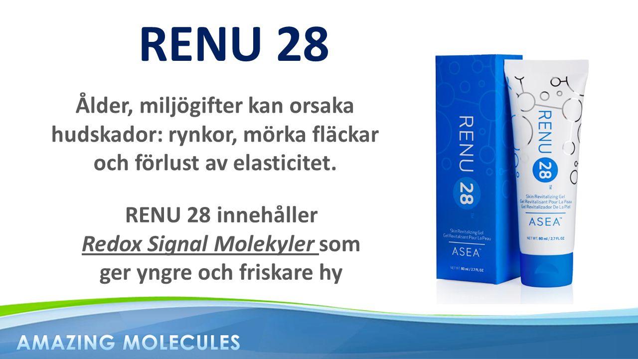 RENU 28 Ålder, miljögifter kan orsaka hudskador: rynkor, mörka fläckar och förlust av elasticitet.