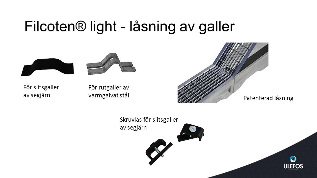 Filcoten® light - låsning av galler