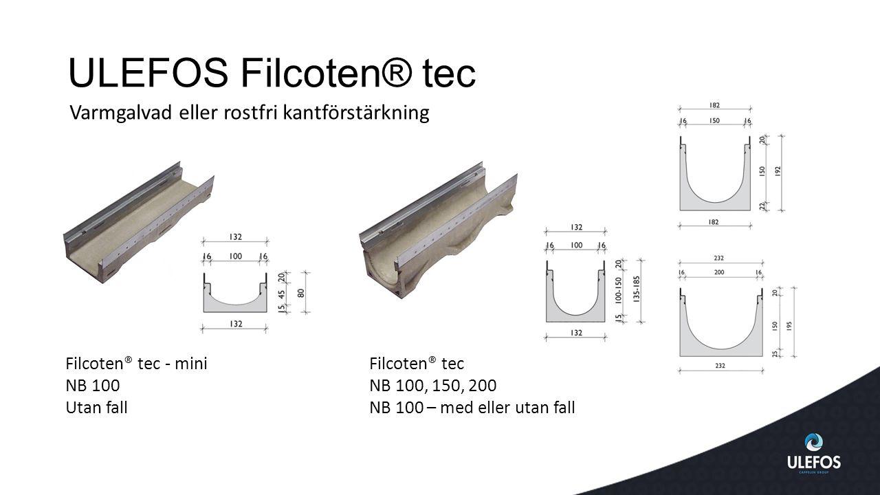 ULEFOS Filcoten® tec Varmgalvad eller rostfri kantförstärkning