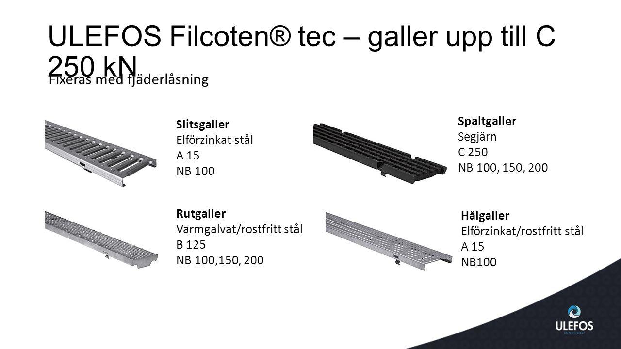 ULEFOS Filcoten® tec – galler upp till C 250 kN