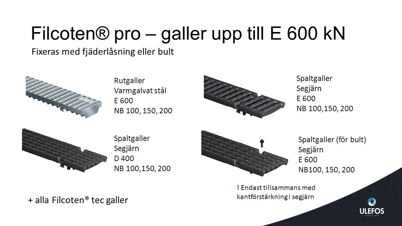 Filcoten® pro – galler upp till E 600 kN