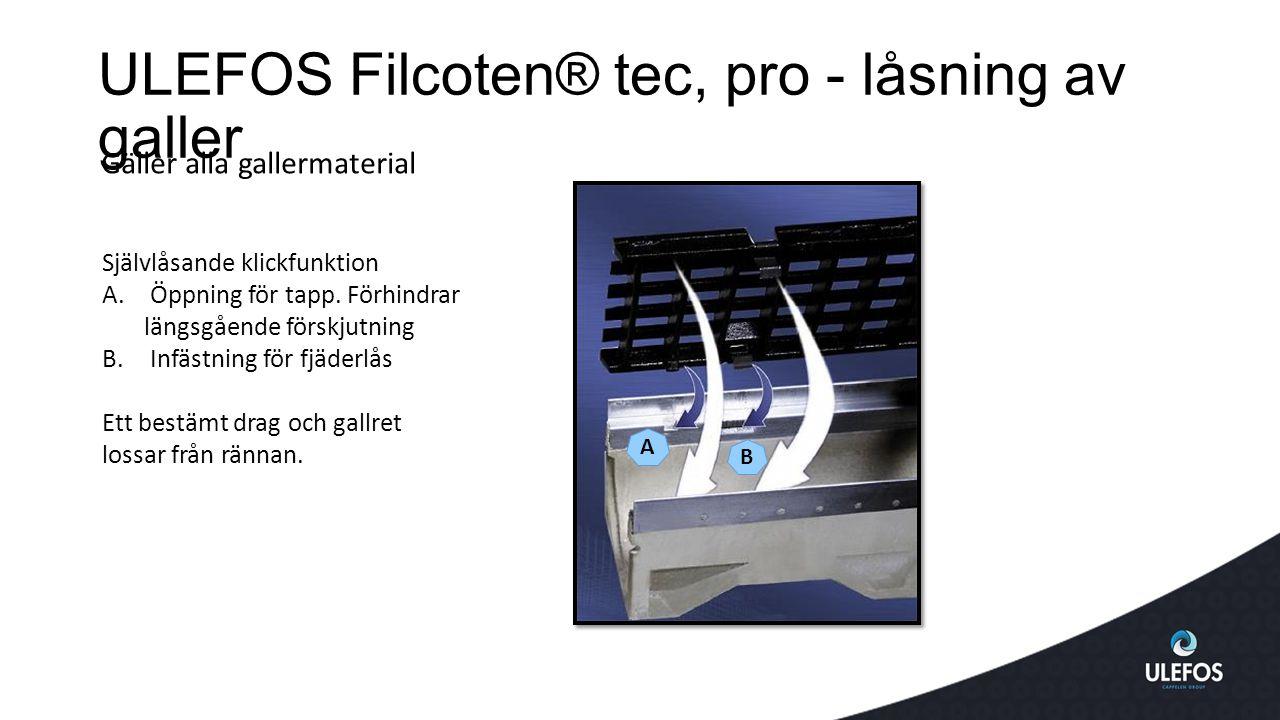 ULEFOS Filcoten® tec, pro - låsning av galler