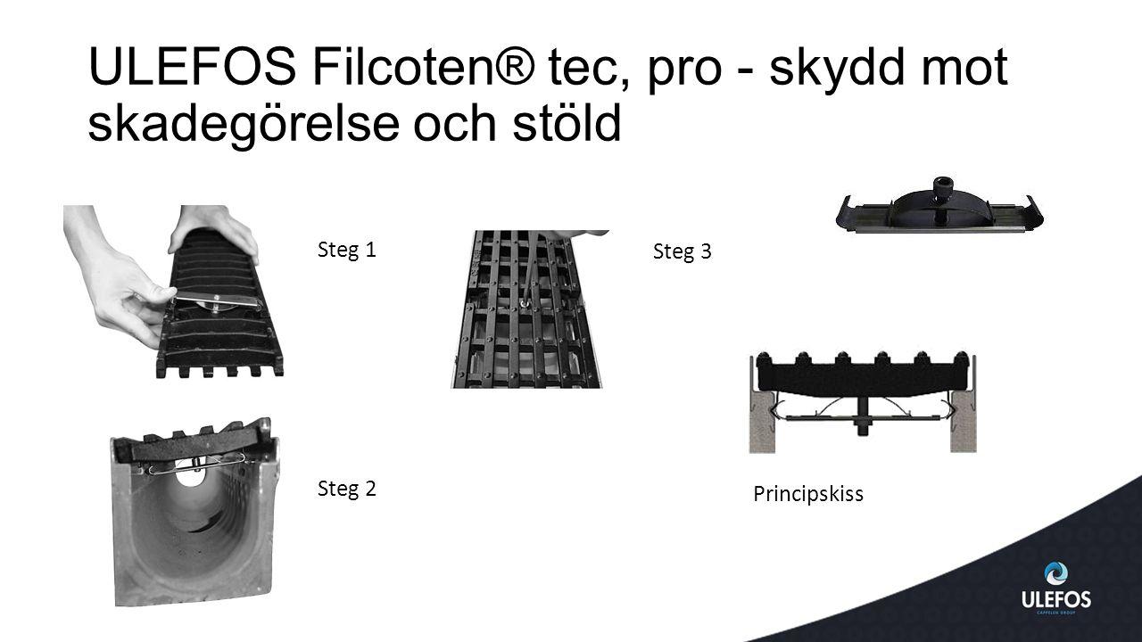 ULEFOS Filcoten® tec, pro - skydd mot skadegörelse och stöld
