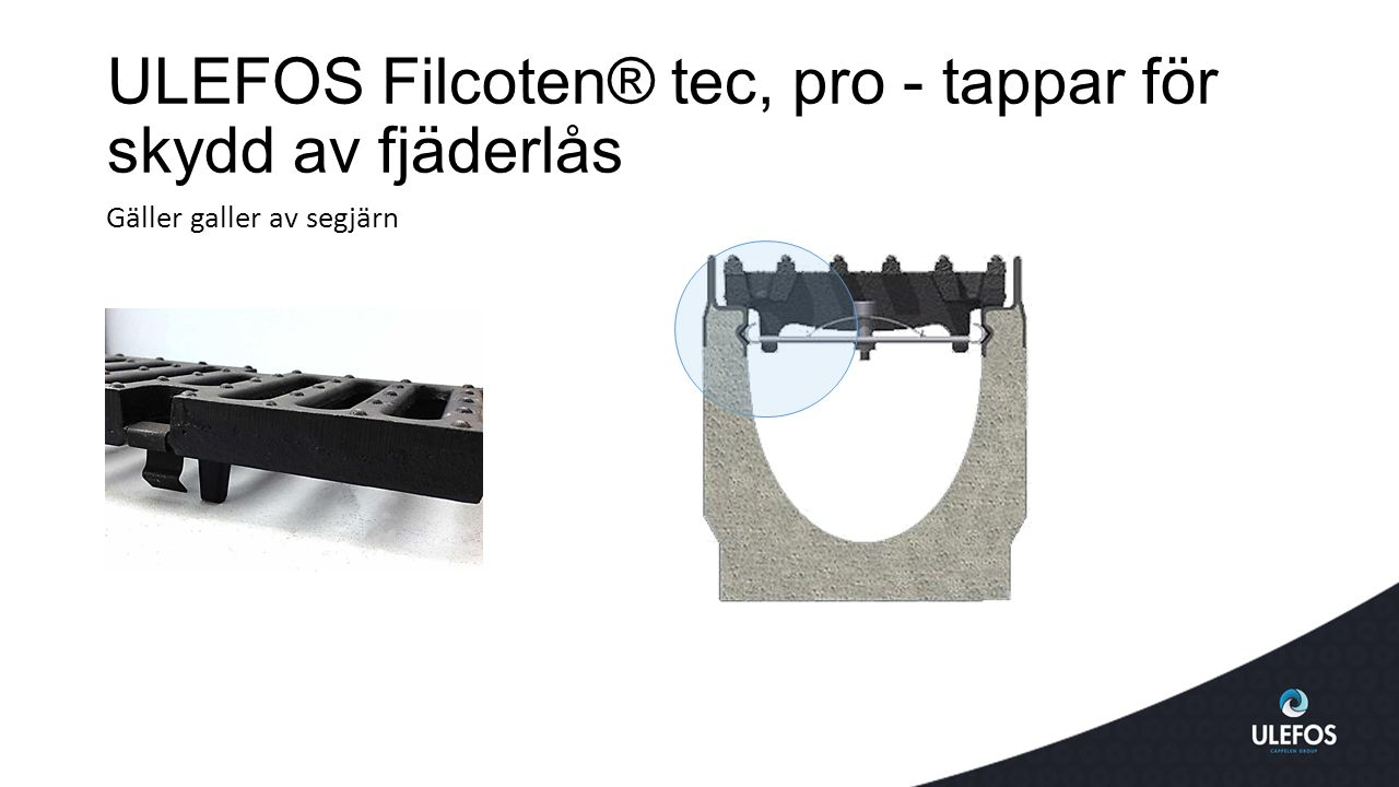 ULEFOS Filcoten® tec, pro - tappar för skydd av fjäderlås
