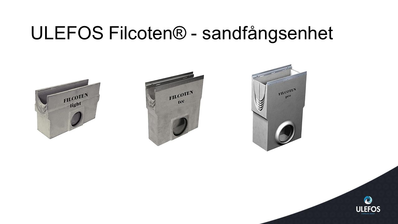 ULEFOS Filcoten® - sandfångsenhet