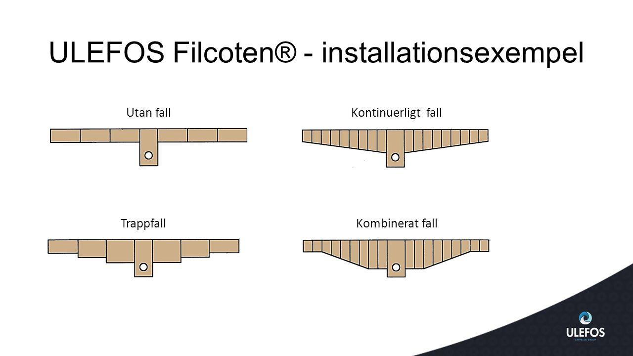 ULEFOS Filcoten® - installationsexempel
