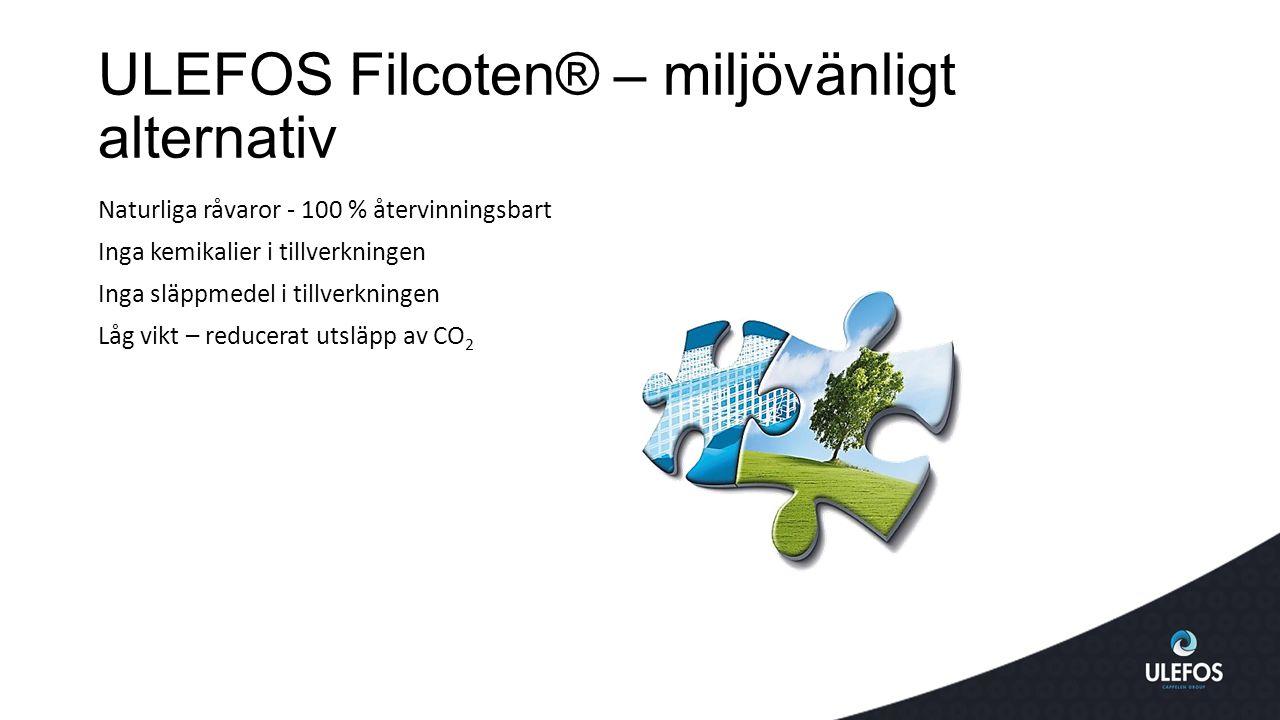 ULEFOS Filcoten® – miljövänligt alternativ