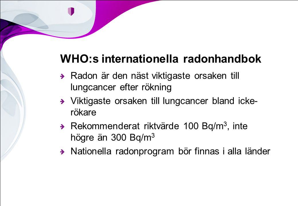 WHO:s internationella radonhandbok