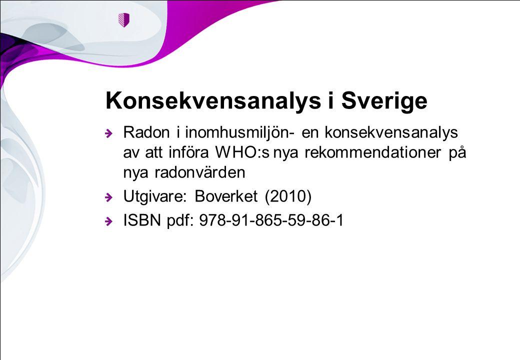 Konsekvensanalys i Sverige